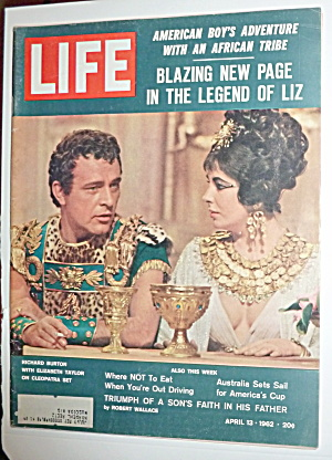 Life Magazine-april 13, 1962-burton/taylor In Cleopatra