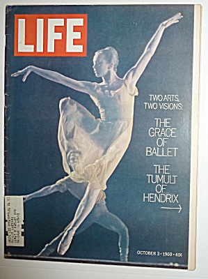 Life Magazine-october 3, 1969-ballet & Hendrix