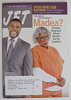 Jet Magazine February 23-march 2, 2009 Tyler Perry