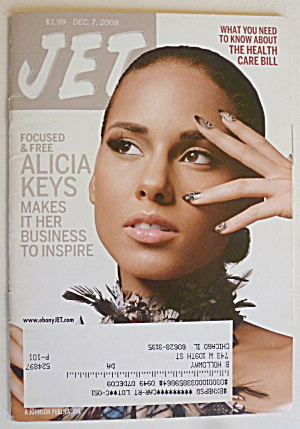 Jet Magazine December 7, 2009 Alicia Keys