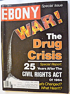 Ebony Magazine August 1989 War: Drug Crisis