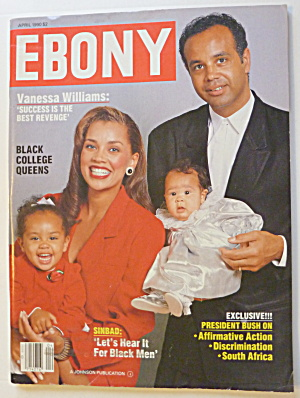 Ebony Magazine April 1990 Vanessa Williams & Family