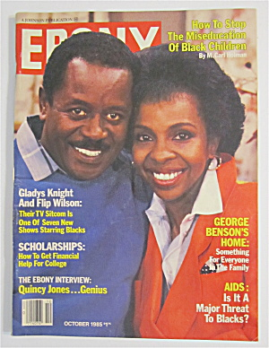 Ebony Magazine October 1985 Gladys Knight & Flip Wilson