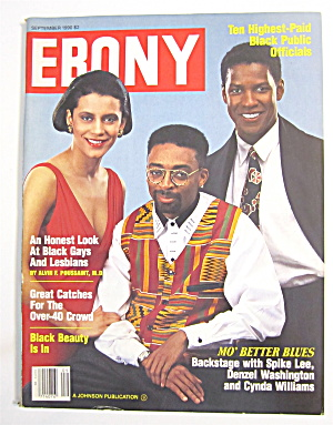 Ebony Magazine September 1990 Lee, Washington & William