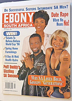 Ebony South Africa Magazine October 1997 Tina Jaxa