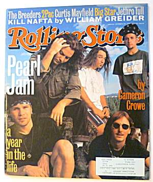 Rolling Stone Magazine October 28, 1993 Pearl Jam