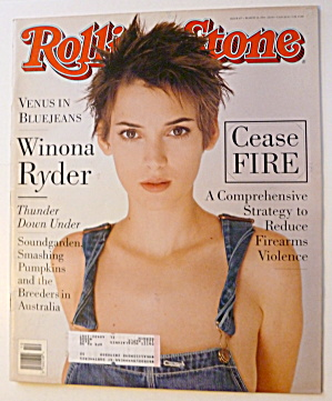Rolling Stone Magazine March 10, 1994 Winona Ryder