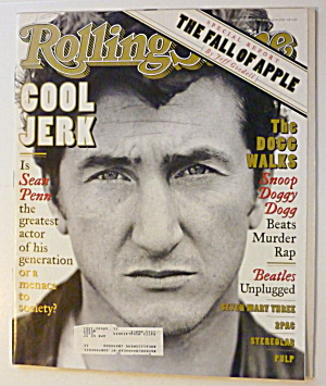 Rolling Stone Magazine April 4, 1996 Sean Penn