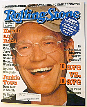 Rolling Stone Magazine May 30, 1996 David Letterman