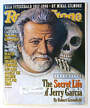 Rolling Stone Magazine August 8, 1996 Jerry Garcia