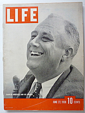 Life Magazine June 27, 1938 Franklin Roosevelt