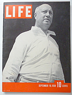 Life Magazine September 19, 1938 Jim Farley