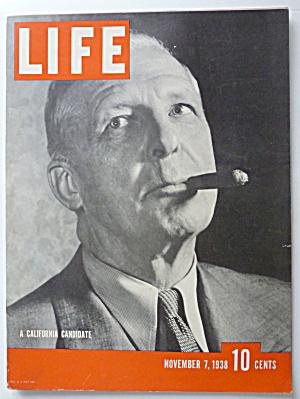 Life Magazine November 7, 1938 California Candidate (Image1)