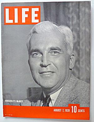 Life Magazine August 7, 1939 Roosevelt's McNutt (Image1)