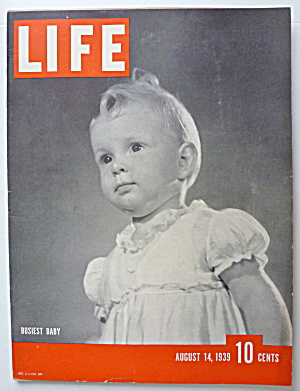 Life Magazine August 14, 1939 Busiest Baby