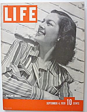 Life Magazine September 4, 1939 Rosalind Russell  (Image1)