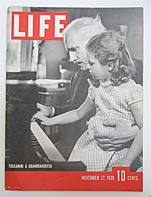 Life Magazine November 27, 1939 Toscanini/Granddaughter (Image1)