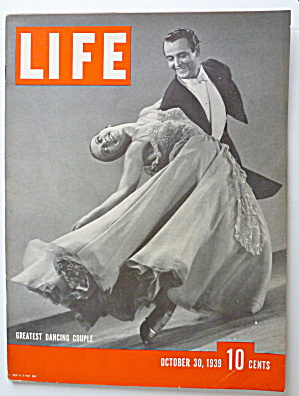 Life Magazine October 30, 1939 Greatest Dancing Couple