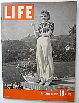 Life Magazine November 13, 1939 Claudette Colbert  (Image1)