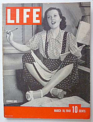 Life Magazine March 18, 1940 Chorus Girl (Image1)