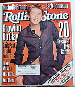 Rolling Stone Magazine July 10, 2003 Clay Aiken