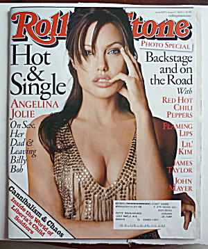 Rolling Stone Magazine August 7, 2003 Angelina Jolie