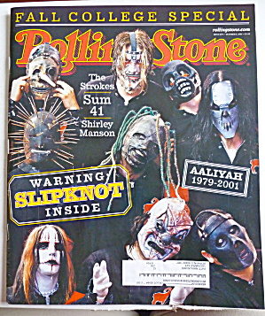 Rolling Stone Magazine October 11, 2001 Slipknot (Image1)