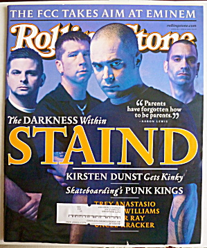 Rolling Stone July 19, 2001 Staind