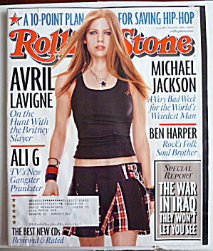Rolling Stone Magazine March 20, 2003 Avril Lavigne (Image1)