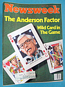 Newsweek Magazine - June 9, 1980 - The Anderson Factor