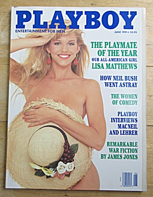 Playboy Magazine-june 1991-saskia Linssen