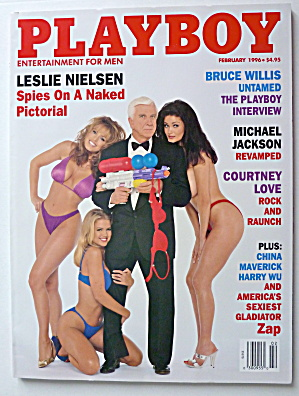 Playboy Magazine-february 1996-leslie Nielsen