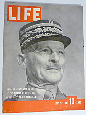 Life Magazine-may 20, 1940-weygand: Commander In Chief
