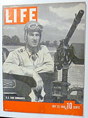 Life Magazine-July 22, 1940-U. S. Tank Commander  (Image1)