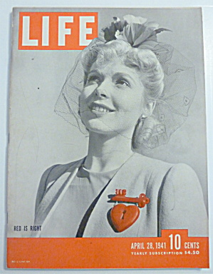 Life Magazine-april 28, 1941-red Is Right
