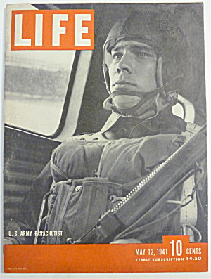 Life Magazine-may 12, 1941-u. S. Army Parachutist