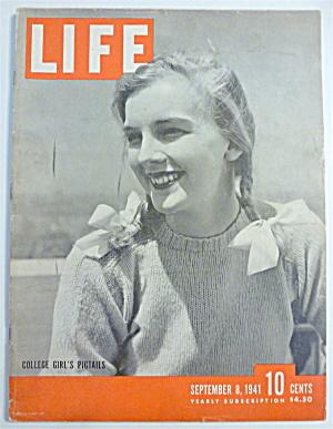 Life Magazine-September 8,1941-College Girl's Pigtails (Image1)
