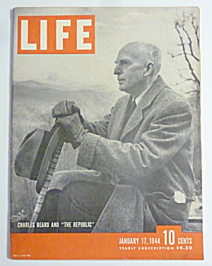 Life Magazine-January 17, 1944-Charles Beard (Image1)
