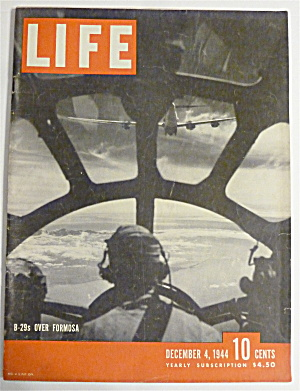 Life Magazine-december 4, 1944-b-29's Over Formosa