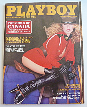 Playboy Magazine-October 1980-S. J. Fellowes (Image1)