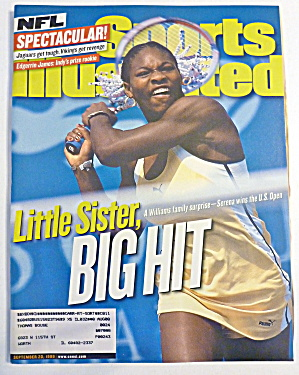 Sports Illustrated Magazine September 20, 1999 Serena  (Image1)