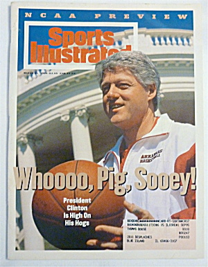Sports Illustrated Magazine March 21, 1994 Pres Clinton
