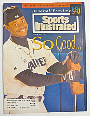 Sports Illustrated Magazine April 4, 1994 K Griffey Jr