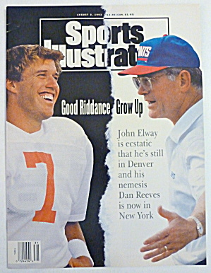 Sports Illustrated Magazine August 3, 1993 John Elway