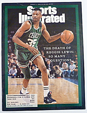 Sports Illustrated Magazine August 9, 1993 Reggie Lewis