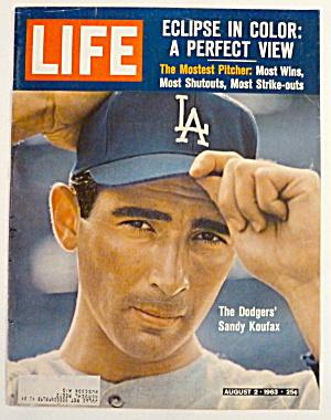 Life Magazine-August 2, 1963-Sandy Koufax (Image1)