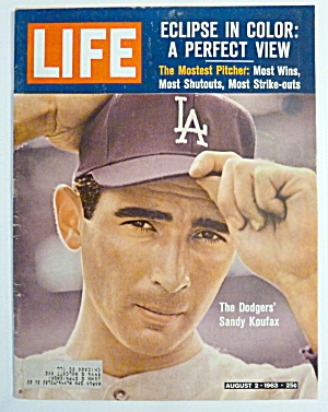 Life Magazine-August 2, 1963-Sandy Koufax (Image1)