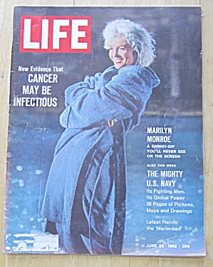 Life Magazine-june 22, 1962-marilyn Monroe
