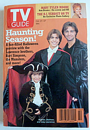 Tv Guide-october 21-27, 1995-lawrence Brothers