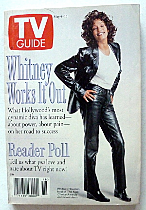Tv Guide-may 4-10, 1996-whitney Houston